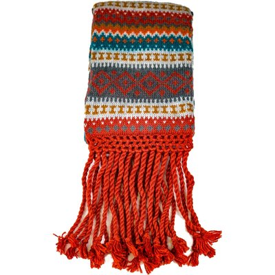 Andes Gifts Sierra Knit Scarf: Cherry