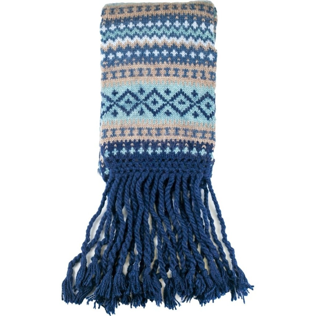 Andes Gifts Sierra Knit Scarf: Navy
