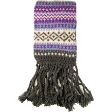 Andes Gifts Sierra Knit Scarf: Purple