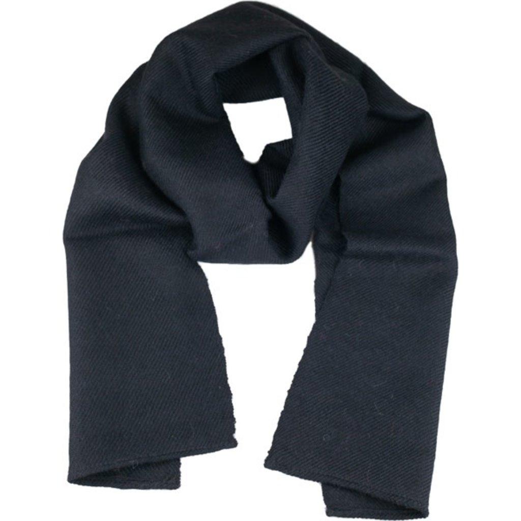 Andes Gifts Solido Alpaca Scarf: Black