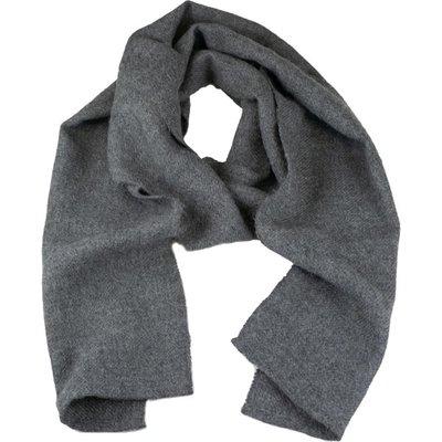 Andes Gifts Solido Alpaca Scarf: Grey