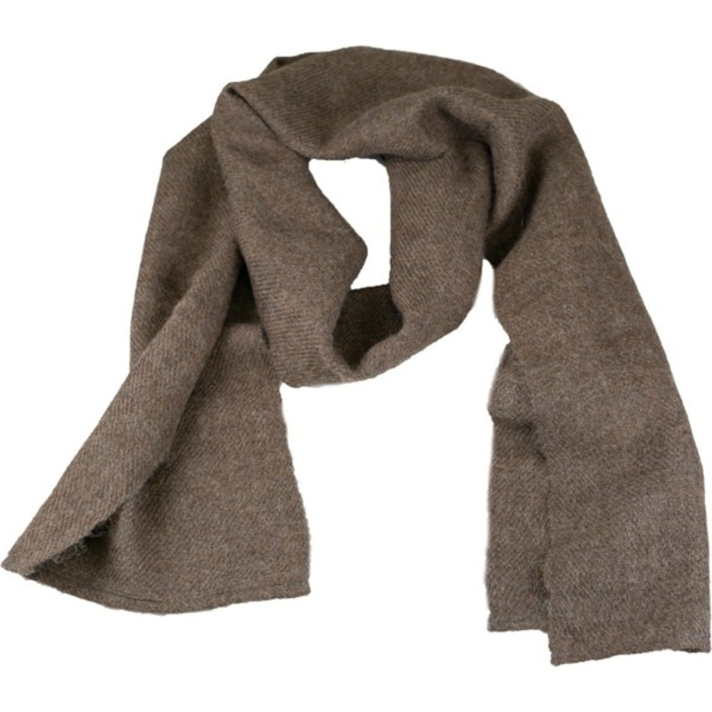 Andes Gifts Solido Alpaca Scarf: Natural