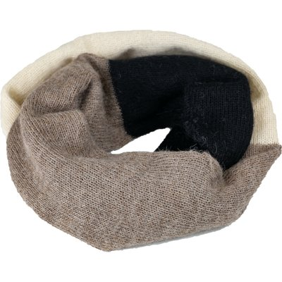 Andes Gifts Tres Alpaca Infinity Scarf: Ash