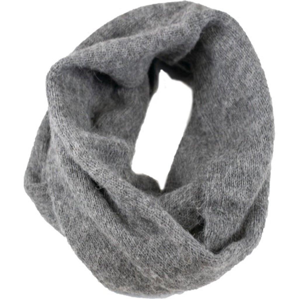 Andes Gifts Milkshake Alpaca Infinity Scarf: Grey