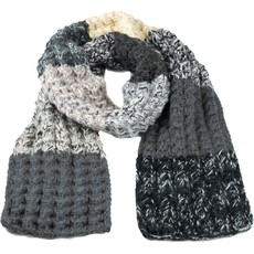 Andes Gifts Altiplano Knit Scarf: Grey