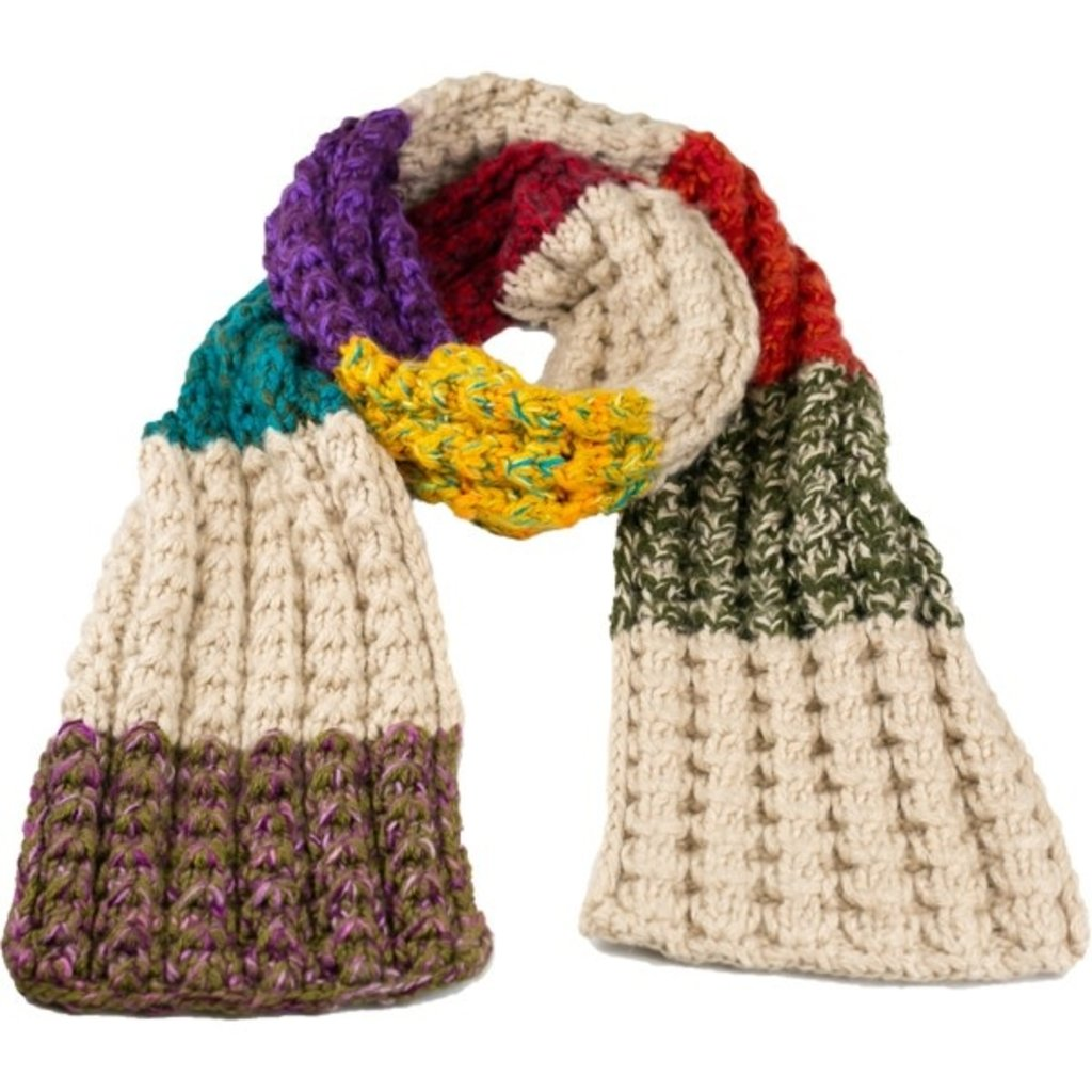 Andes Gifts Altiplano Knit Scarf: Sunset