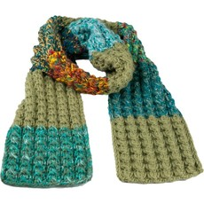 Andes Gifts Altiplano Knit Scarf: Teal