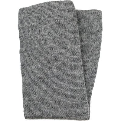 Andes Gifts Milkshake Alpaca Leg Warmers: Grey