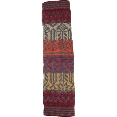 Andes Gifts Tahoe Knit Leg Warmers: Burgundy