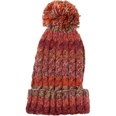 Andes Gifts Kids Funky Knit Hat with PomPom: Burgundy