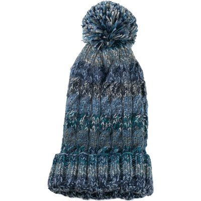 Andes Gifts Kids Funky Knit Hat with PomPom: Steel