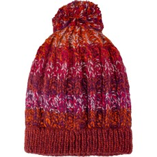 Andes Gifts Funky Knit Hat: Burgundy