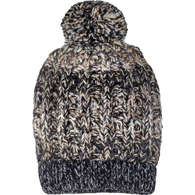 Andes Gifts Funky Knit Hat with PomPom: Grey