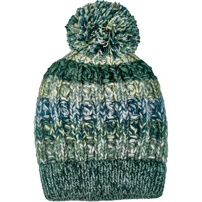Andes Gifts Funky Knit Hat with PomPom: Mint