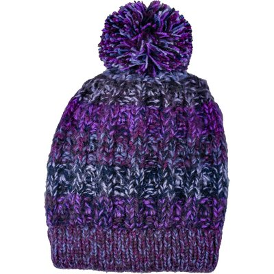 Andes Gifts Funky Knit Hat: Purple