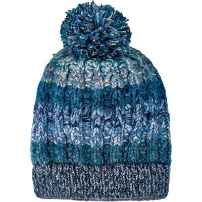 Andes Gifts Funky Knit Hat with PomPom: Steel