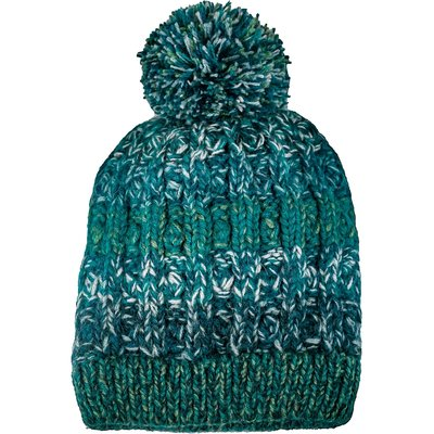Andes Gifts Funky Knit Hat with PomPom: Teal