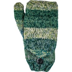 Andes Gifts Funky Knit Flittens: Mint