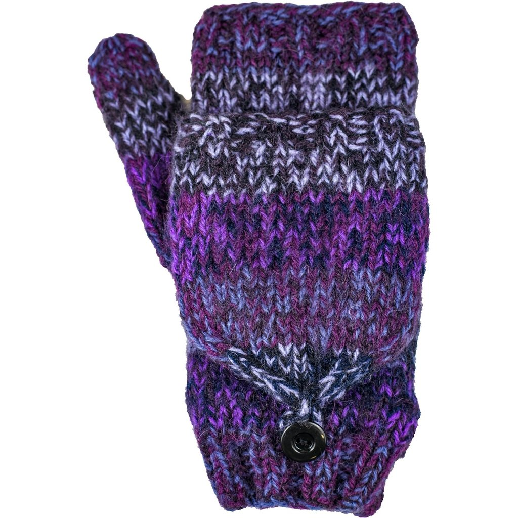 Andes Gifts Funky Knit Flittens: Purple