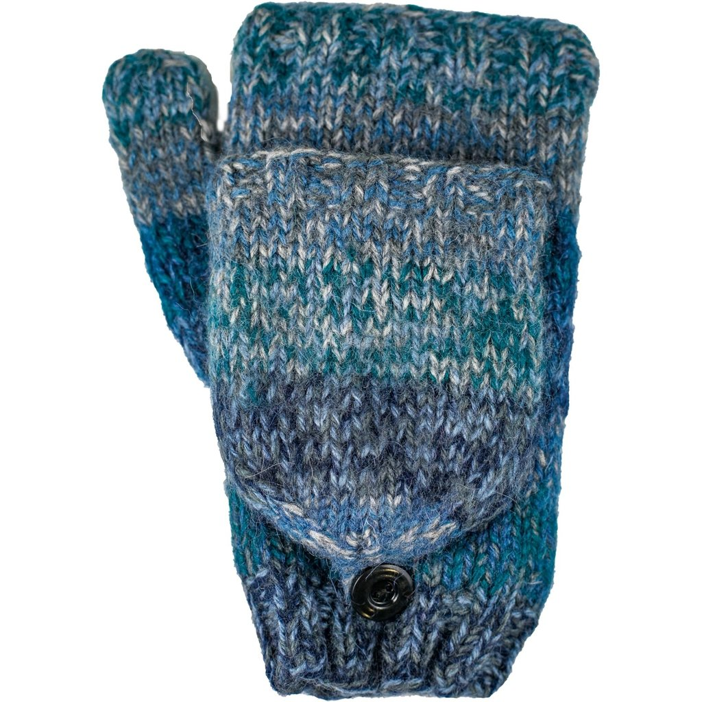 Andes Gifts Funky Knit Flittens: Steel
