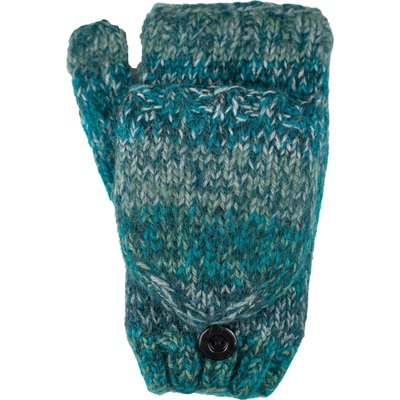 Andes Gifts Funky Knit Flittens: Teal
