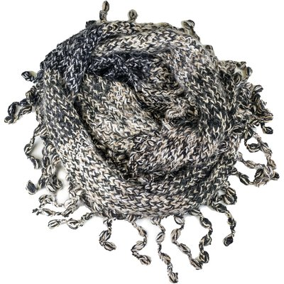Andes Gifts Funky Knit Infinity Scarf: Grey