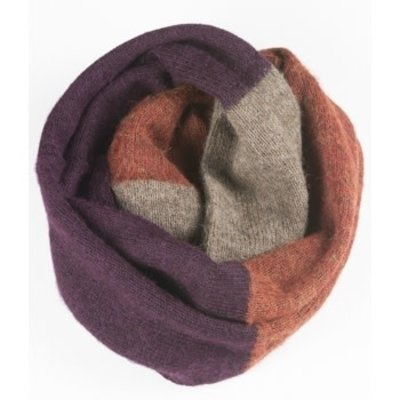 Andes Gifts Tres Alpaca Infinity Scarf: Purple