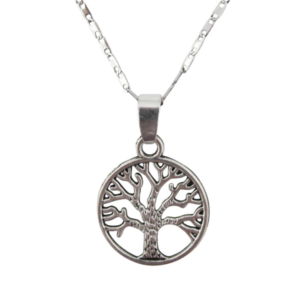 Unique Batik Tree of Life Chain Link Necklace