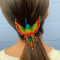 Unique Batik Beaded Hummingbird Hair Holder