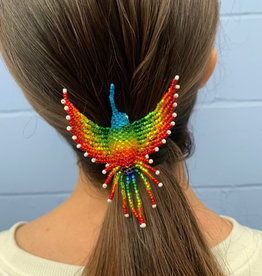 Unique Batik Beaded Hummingbird Hair Holder