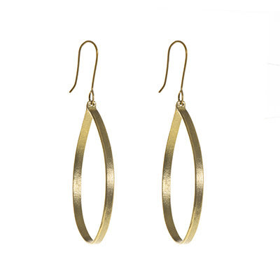 World Finds Ruthie Brass Large Round Earrings