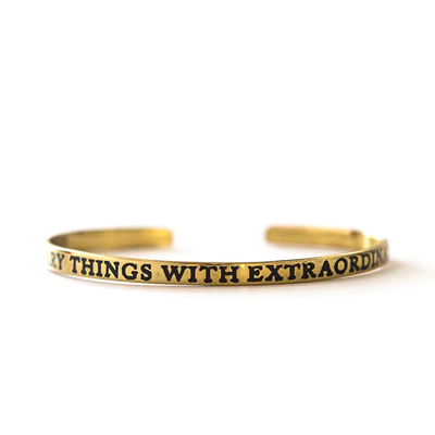 Fair Anita Extraordinary Love Cuff Brass