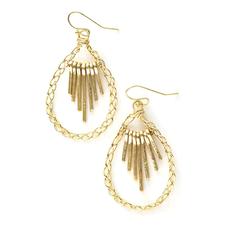 Fair Anita Sunshower Brass Earrings