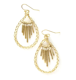 Fair Anita Sunshower Brass Earrings