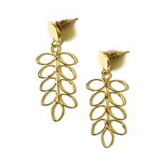 Fair Anita Fern Stud Earrings Brass