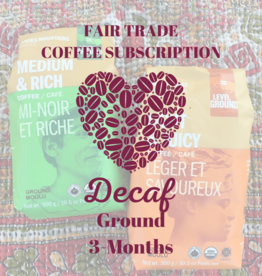 Global Gifts Coffee Subscription: 3 Months Ground Decaf