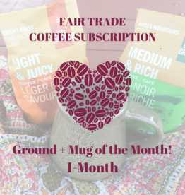 Global Gifts Coffee Subscription: 1 Month Ground + Mug