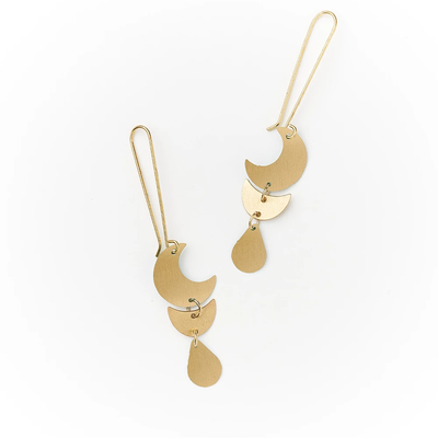 Matr Boomie Rajani Gold Drop Earrings