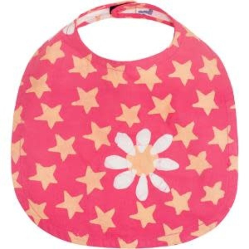 Global Mamas Organic Cotton Batik Baby Bib Daisy Star
