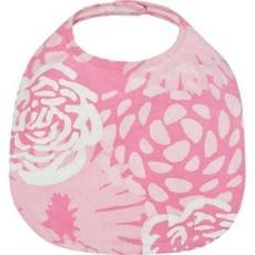 Global Mamas Organic Cotton Baby Bib: Pink Garden