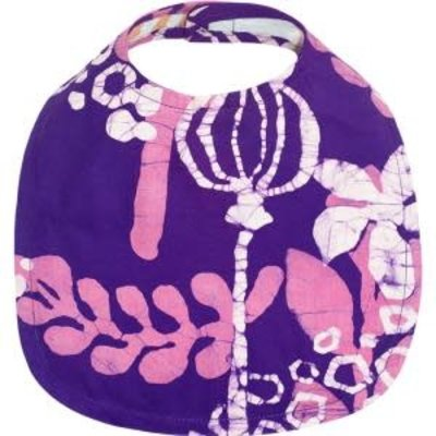 Global Mamas Organic Cotton Baby Bib: Purple Marina