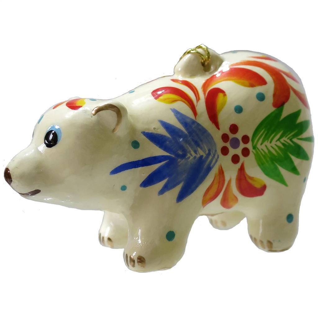 Lucuma Ceramic Polar Bear Ornament