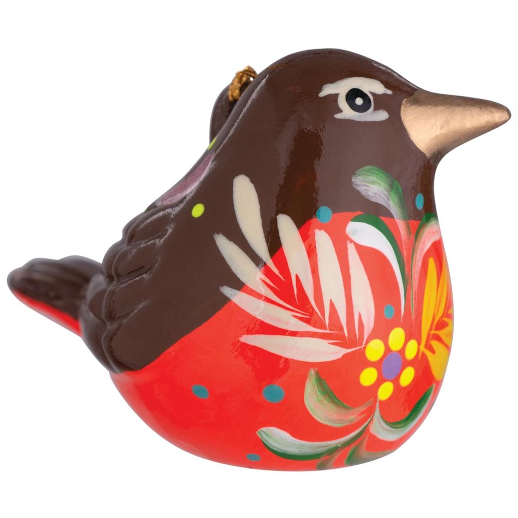 Lucuma Ceramic Robin Ornament