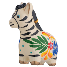 Lucuma Ceramic Zebra Ornament