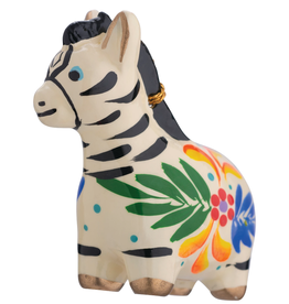 Lucuma Ceramic Zebra Ornament