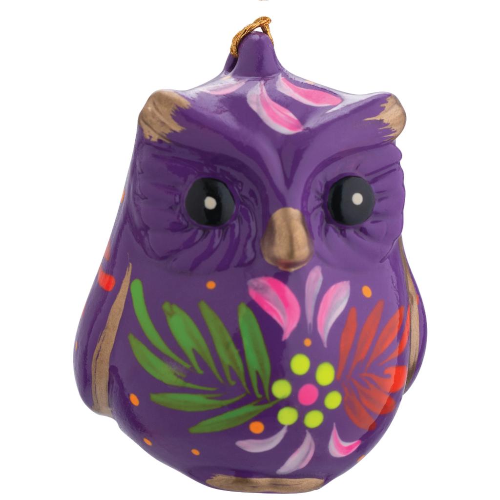 Lucuma Ceramic Owl Ornament