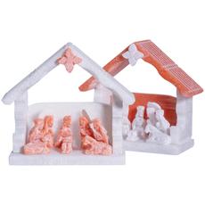Lucuma Alabaster Nativity Hut