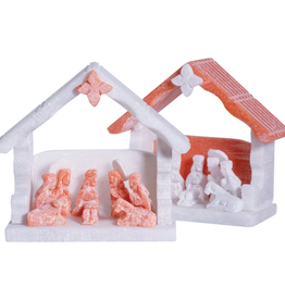 Lucuma Alabaster Nativity Hut