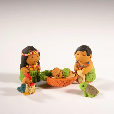 Lucuma Hawaiian Petite Ceramic Nativity