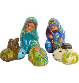 Lucuma Confetti Ceramic Nativity Blue